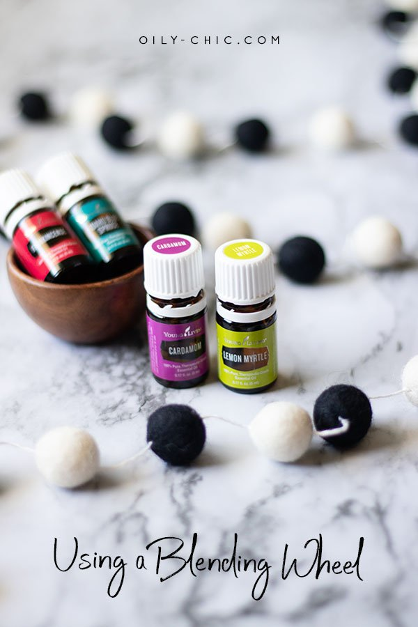 Quickly gain confidence making essential oils blends by using an essential oil blending wheel.